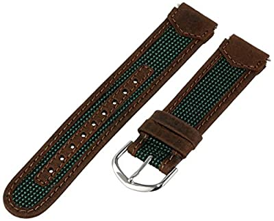 TX743112, Timex watchband, Expedition, Water Resistant, 18mm, brown/green by Timex