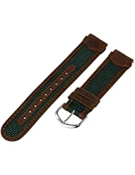 TX743112, Timex watchband, Expedition, Water Resistant, 18mm, brown/green