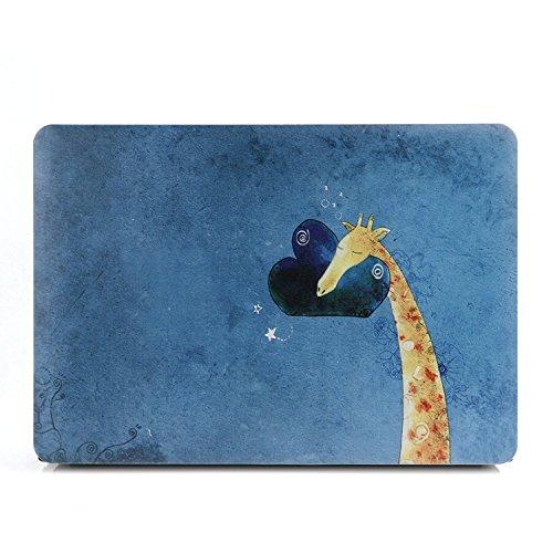 (SAYA Waterproof Plastic Hard Case Shell Cover for MacBook Air 13 Inch Model:A1369/A1466¨(Giraffe))