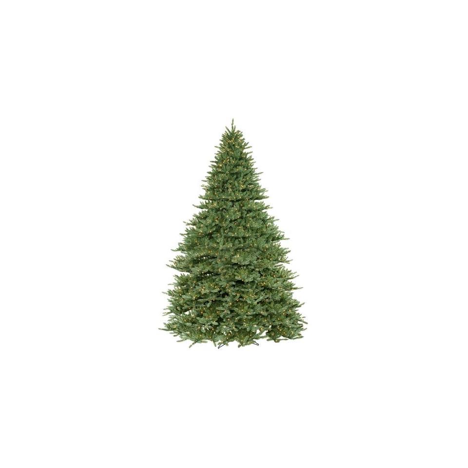 12 Pre Lit Blue Frasier Full Artificial Christmas Tree   Clear Lights