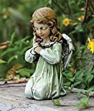 Roman Josephs Studio Sitting Angel with Flower Looking Down Outdoor Garden Statue, 12-Inch Review