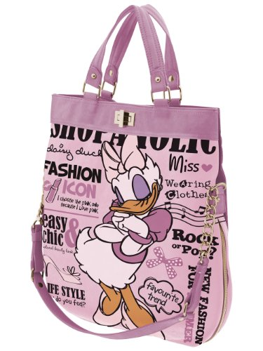 Disney and Daisy Shoulder Duck Strap Leatherette Bag Large Handles Shopper with qHFqSwf
