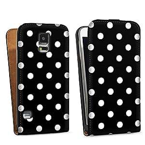 Diseño para Samsung Galaxy S5 DesignTasche black - Polka Dots - schwarz und weiß