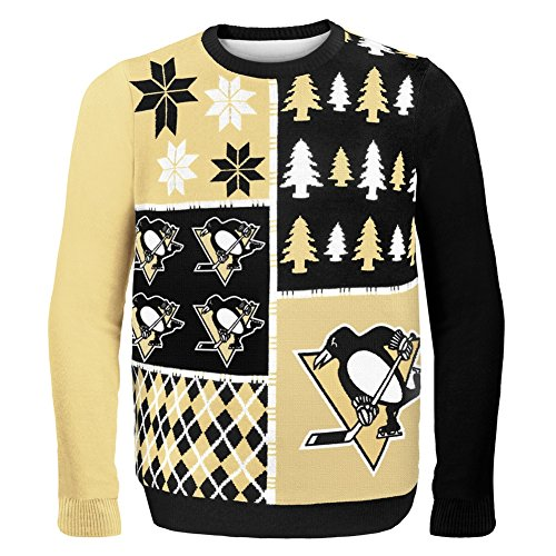 Pittsburgh Penguins Busy Block Ugly Sweater ()