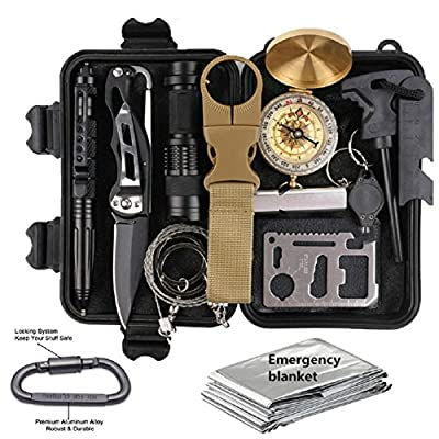 KEPEAK Emergency Survival Kits Outdoor Survival Gear Kit for Camping, Hiking, Adventure and Hunting by Kepeak
