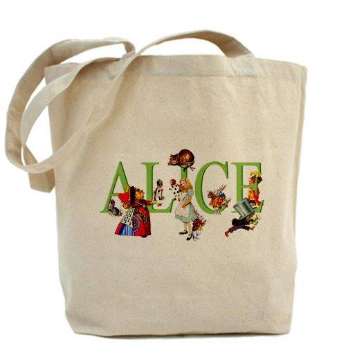 CafePress–Alice e amici–Borsa di tela naturale, panno borsa per la spesa