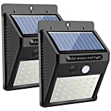 Solar Wall Light Outdoor, Karrong 30 Led Super Bright Security Motion Sensor Light for Garden (Two Pack)