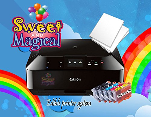 EDIBLE PRINTER BUNDLE-MG6820/COMES WITH EDIBLE INK AND EDIBLE FROSTING SHEETS by SWEET AND MAGICAL (Image #1)