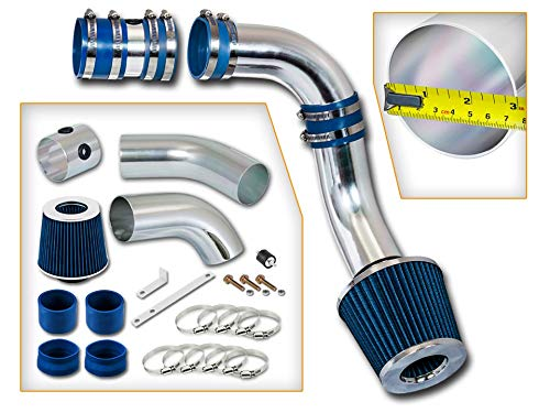 Rtunes Racing Cold Air Intake Kit + Filter Combo BLUE Compatible For 99-04 Oldsmobile Alero V6