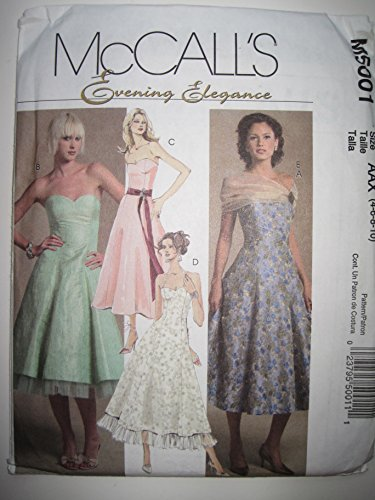 - McCall's Pattern M5001 Misses'/Miss Petite Lined Dresses and Wrap Sizes 4-6-8-10