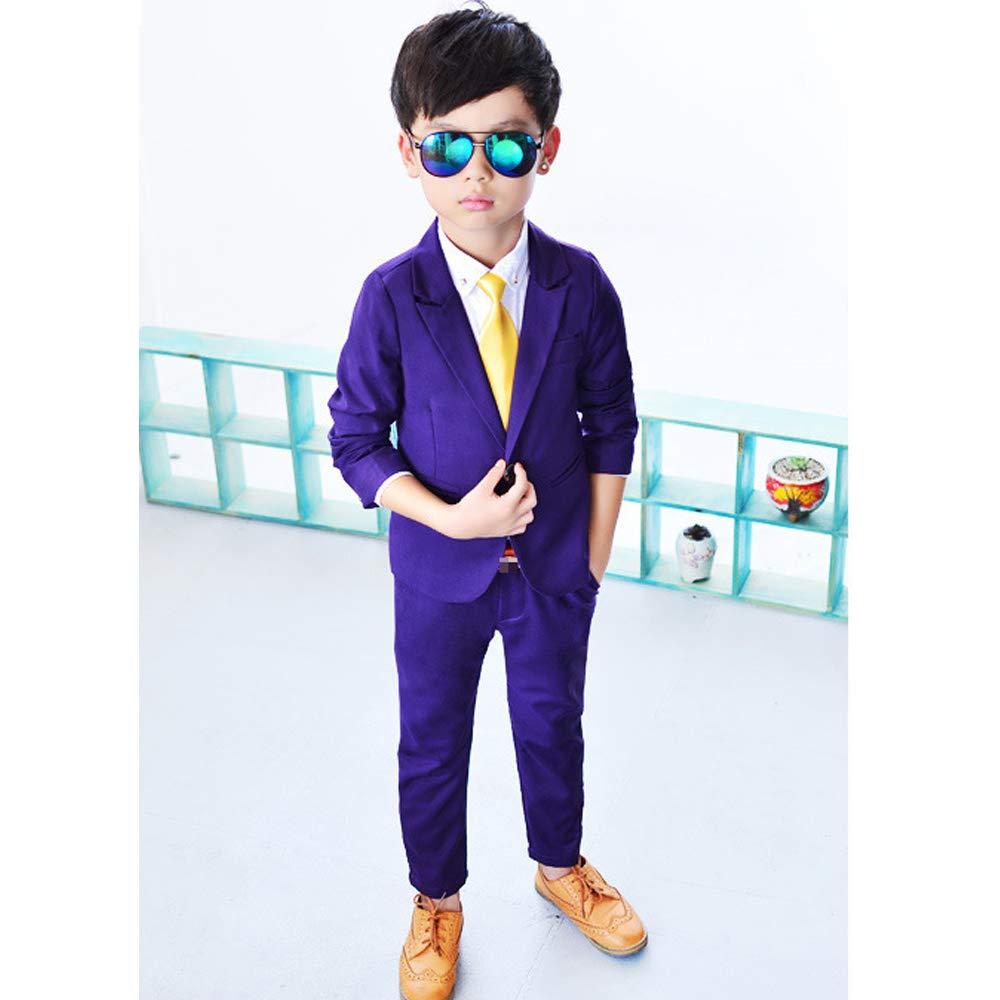 KINDOYO Boys Wedding Suit Boys Grey Suit 3-8 Years Page Boy Suit