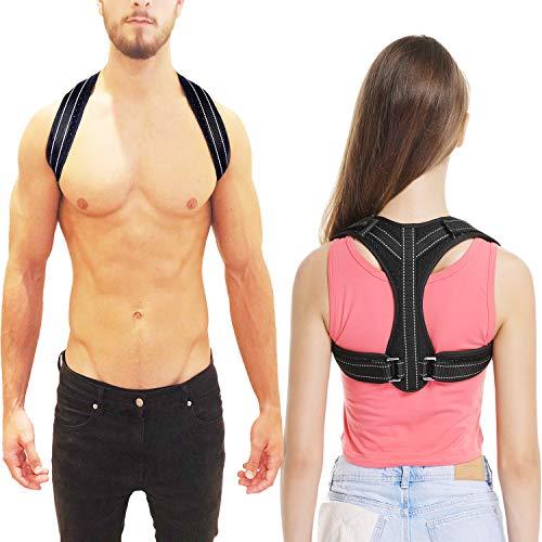 Back Posture Corrector for Women&Men Under Clothes, Posture Brace,Adjustable Back Brace,Comfortable Clavicle Support Device for Thoracic Kyphosis, Back Support for Shoulder&Neck&Upper Back Pain Relief