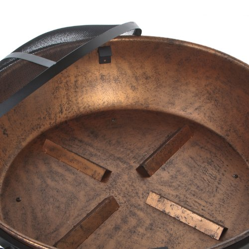 DeckMate 991049 Kay Home Product'S Avondale Steel Fire Bowl, Copper Colored
