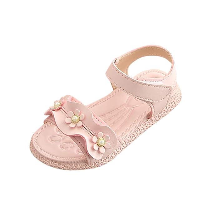 00de8fb7fac84 Amazon.com: Sandals for Girls,Infant Baby Girls Sandals Flowers ...
