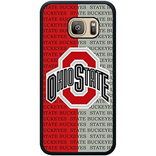 S7 TPU Protective Case with Ncaa Big Ten Conference Football Ohio State Buckeyes 2 Black for Samsung Galaxy S7 Black TPU Cover Sales