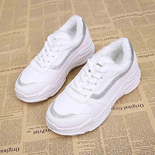 Donne Donna Piattaforma Studenti Plus Sneaker Caldo Alta Inverno Per Sportive Da Silver moda Velluto In Scarpe Casual p4C1w5