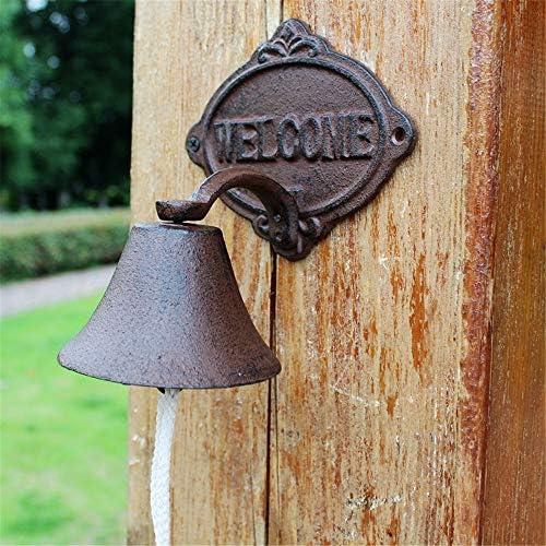 アンティークドアベル 呼び鈴 アイアン ベル鋳鉄 ドア チャイム レトロ鋳鉄呼び鈴はカード・ベルの家の壁の装飾の庭の装飾を歓迎します 庭の装飾 (Color : Multi-colored, Size : Free size)