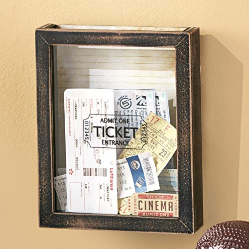 The Lakeside Collection Memento Box for Tickets - Framed Hanging Wall Decoration