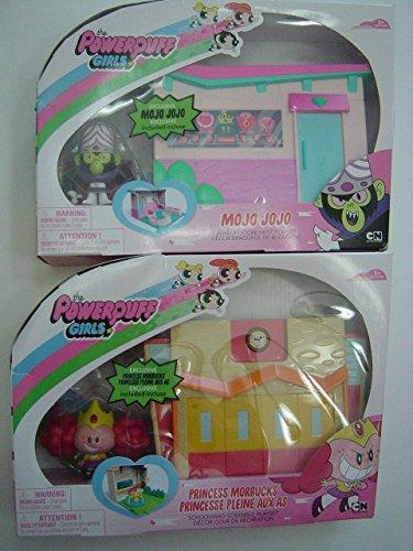 (Powerpuff Girls - Princess Morbucks Schoolyard Scramble Playset PLUS Mojo Jojo Jewelry Store Heist Playset Bundle of)