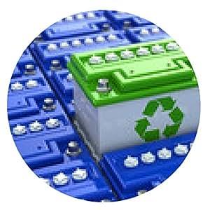 alfombrilla de ratón reciclaje de baterías de coche. Energía verde. Fondo de acumulador - ronda - 20cm