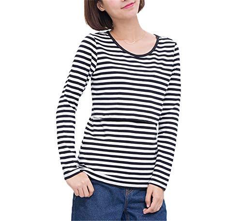 Lunga Donna da Gravidanza Tayaho Maglietta Manica Black6 Moda per T Bluse Maglietta Maternity Incinta Top Donna Shirt fg6xS