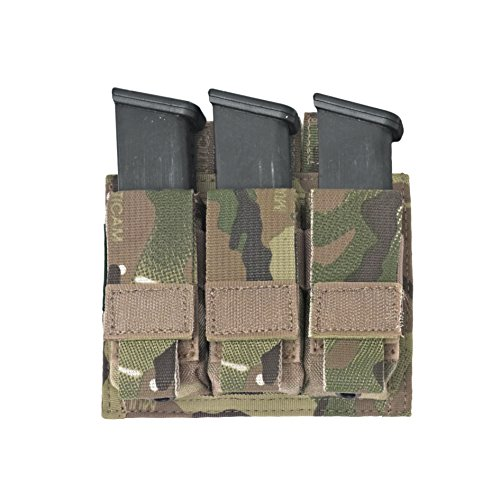 (Warrior Assault Systems Direct Action Triple 9mm Pistol Mag Pouch, Multicam )