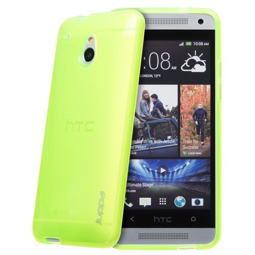 Juppa® HTC One Mini M4 TPU Silikon Tasche Hülle Schutzhülle mit LCD displayschutzfolie - Grün / Green