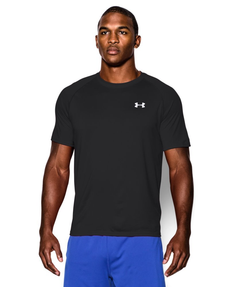 Under Armour Men's Tech Short Sleeve T-Shirt, Black /White, X-Small