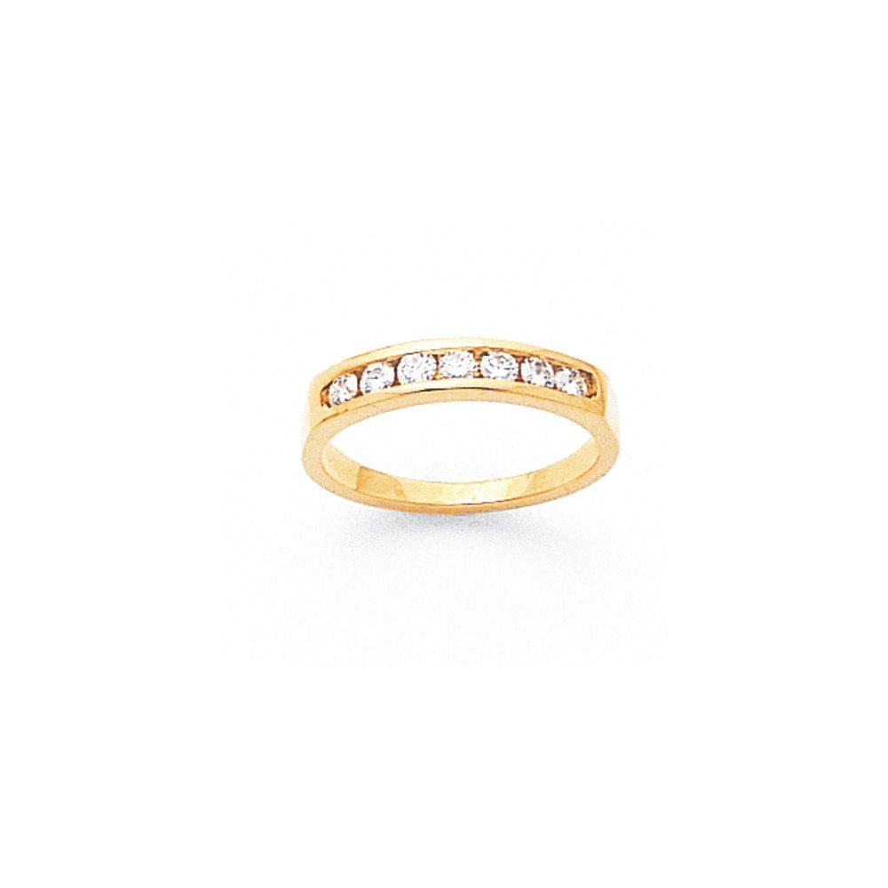 1/3 CT 14K Yellow Gold 7 Stone Diamond Channel Wedding Band. 0.35 ctw. by JewelrySuperMart Collection