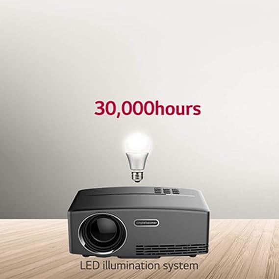 LULUKEKE Proyector GP80 Mini proyector, Mini proyector de vídeo ...