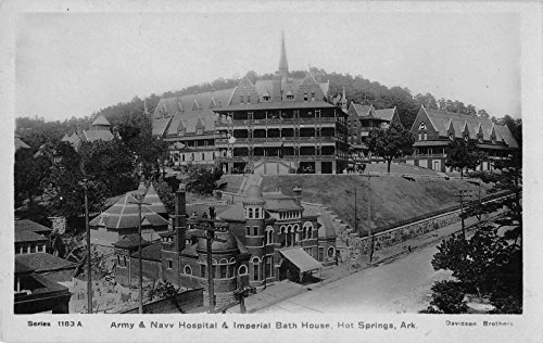 Hot Springs Arkansas Army/Navy Hospital Imperial Bath House antique pc Y10535