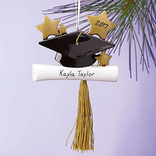 Personalized 2018 Graduation Cap Ornament - 3-1/4