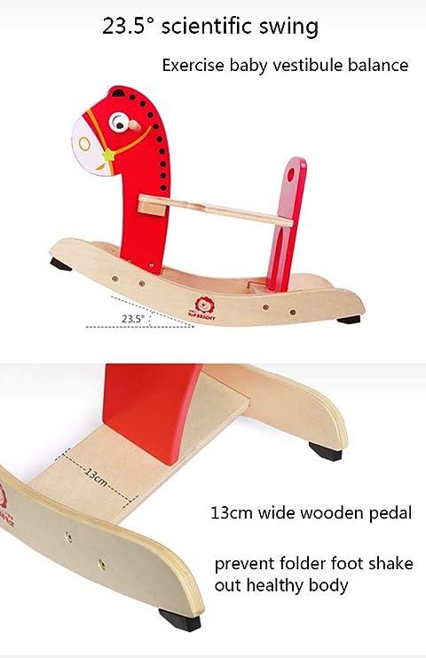Amazon.com: Caballo balancín infantil, juguete de madera ...