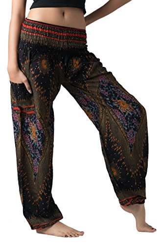 02b39f9141907 Bangkokpants Women's Boho Pants Hippie Clothes Yoga Outfits Peacock Design  One Size Fits. Published June 24, 2018 | By westend. 🔍. Amazon.com ...