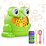 Tencoz Bubble Machine, Automatic Bubble Maker Blower with A Bottle of Bubble Solution Over 500 Bubbles per Minute Bubble Machines for Kids Toddlers Bath Toy Parties  Wedding (Frog)