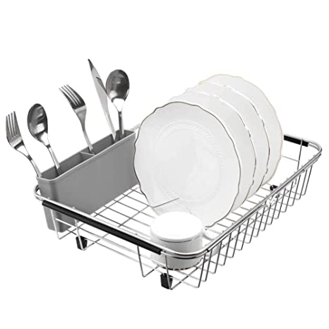 Amazon.com: Blitzlabs - Escurreplatos de acero inoxidable ...