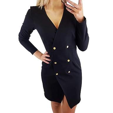 PAOLIAN_Vestido Para Mujer Vestido de Blazer para Mujer Cortos ...