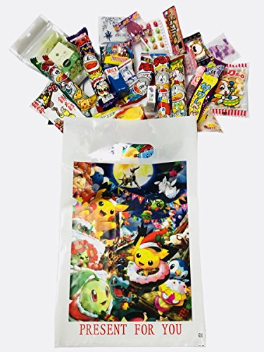 RAPID-Pokemon Japanese Candy Gift Box 30 pcs-''Dagashi'' snack with Japanese anime bag (Pokemon)