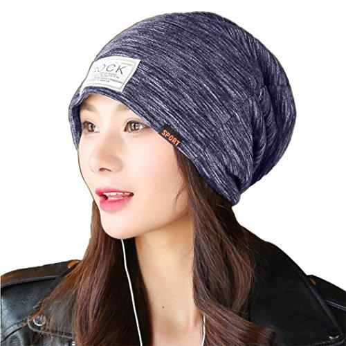 tocado Gorros del sombrero de del ganchillo Negro de esquí MIOIM turbante Unisex del punto trenzado caliente invierno B4nwYqF