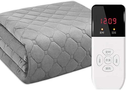 Manta eléctrica calentada debajo de la cama, con control remoto digital, temporizador y 9 ajustes de calefacción, manta eléctrica-180 × 120 cm: Amazon.es: Salud y cuidado personal