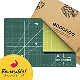 """SELF Healing Cutting MAT: 12x18"""" PVC & BPA Free Non-Toxic No Smell Reversible Cutting Mat with Grid for DIY Crafting, Sewing, Home & Office 