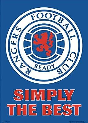 G Scotland Rangers Scottish Football Club Crest Sports Fan Soccer Football Poster Print (24X36 UNFRAMED Poster)