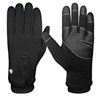 LETHMIK Mens Windproof Touchscreen Gloves Winter Outdoor Cycling Motorcycle Ski Glove