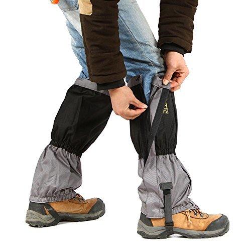 2Pcs Outdoor Waterproof Scratch Resistant Hiking Climbing Snow Leg Gaiters,Black,Red,Blue,Orange