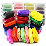 Shackgear 24 Colors Soft Modeling Clay Kit with Individual Container - Seal Pack ,Non Toxic , Non-sticky - Dry up within 12 Hours