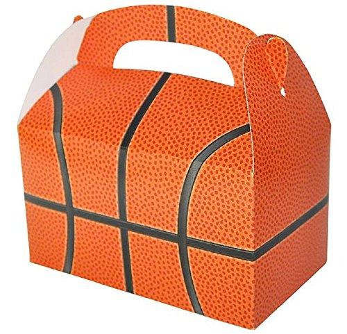 Novelty Treasures Basketball Treat Box Set of 12 Birthday Party Goody Bag Alternative