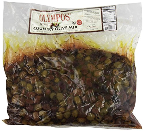 Olympos Pitted Country Olive Mix, 5-Pounds