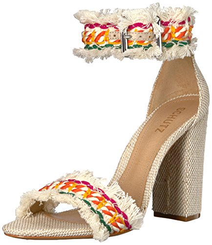 Schutz Women's Zoola Heeled Sandal, Multi/Natural, 7 M US by Schutz