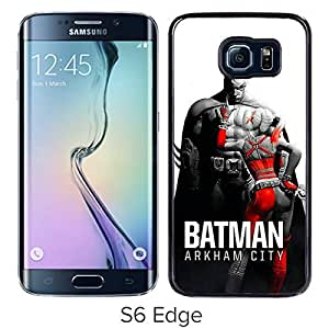 batman arkham city Black Samsung Galaxy S6 Edge Screen Cover Case Luxurious and Fashion Design