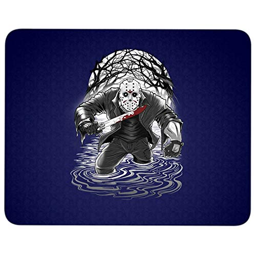 Jason Voorhees Friday The 13th Halloween Mouse Pad for Typist Office, Fan of Friday The 13th Film Quality Comfortable Mouse Pad (Mouse Pad - Navy)